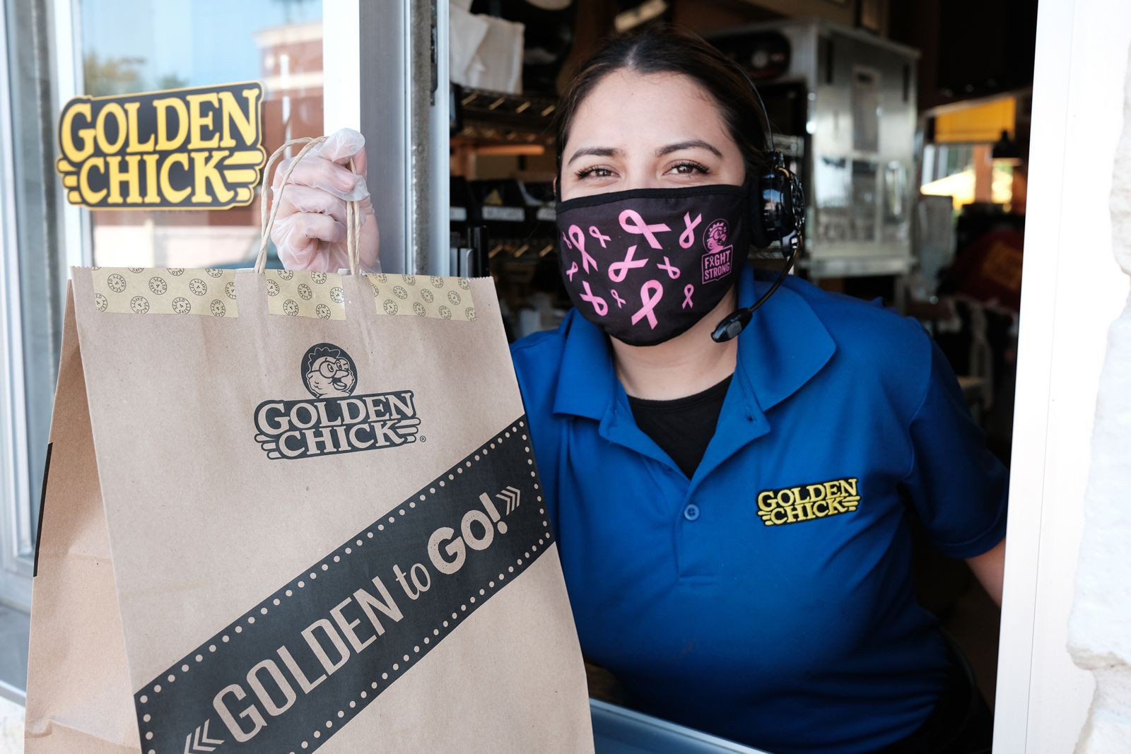 Golden Chick Donates $15,040 To The National Breast Cancer Foundation