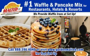 #1 Demanded Waffle & Pancake Mixes for Restaurants & Hotels - Quick Set Up with Golden Malted