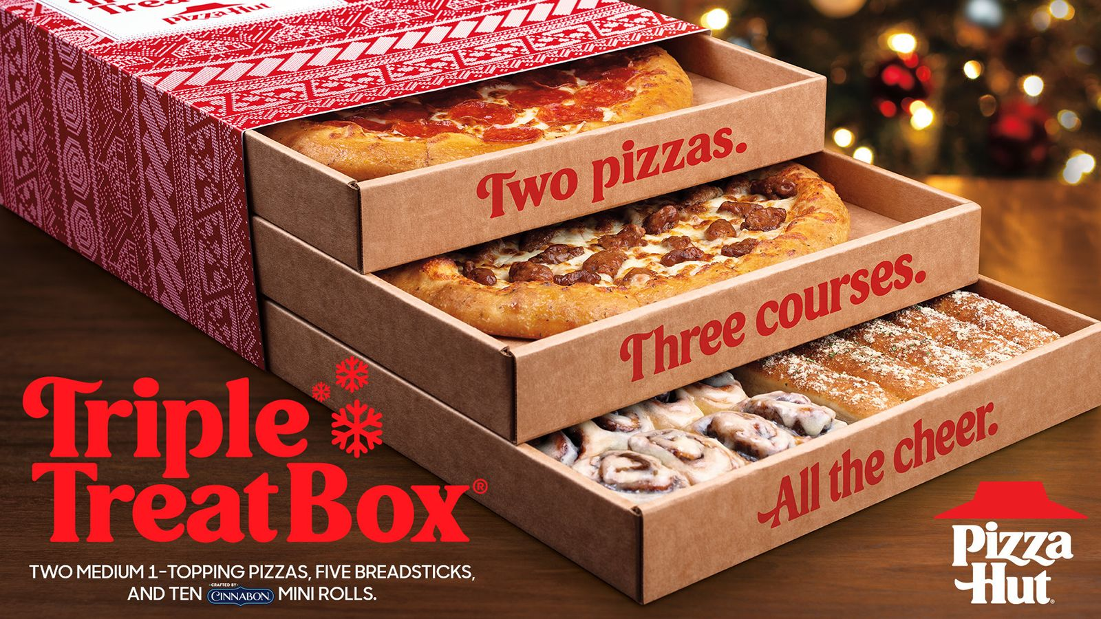Sleigh The Holiday Season With The Family-Favorite Triple Treat Box From Pizza Hut