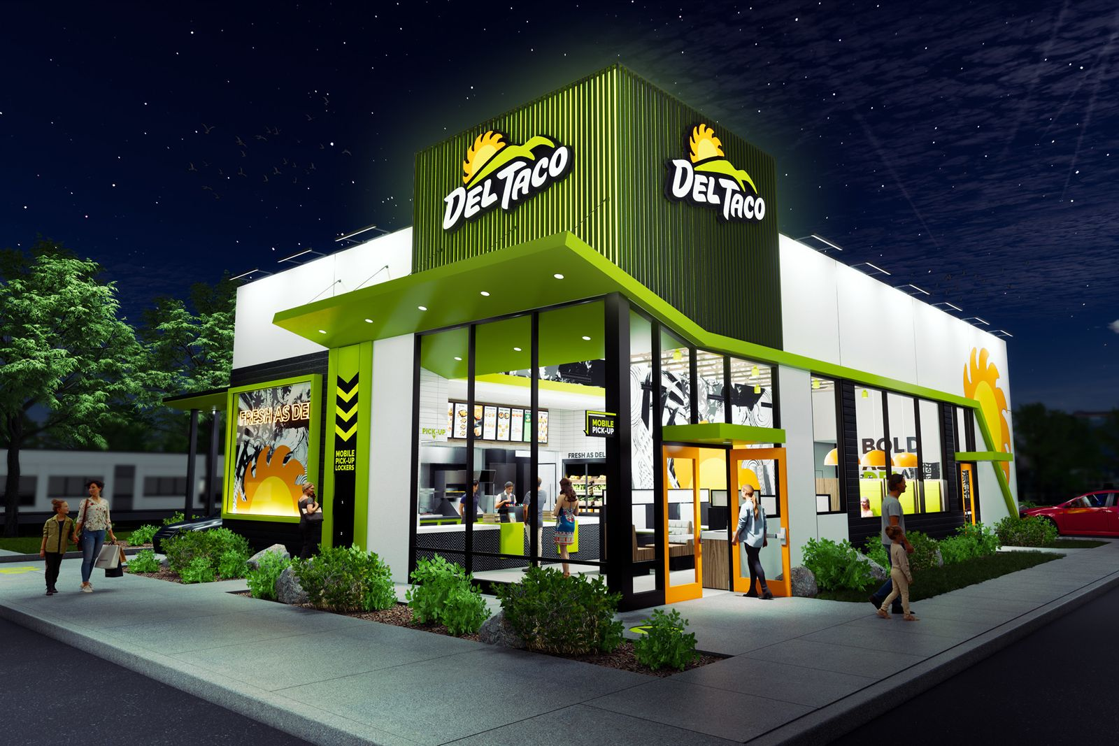Del Taco Debuts Reimagined Store Design with 'Fresh Flex' Prototype