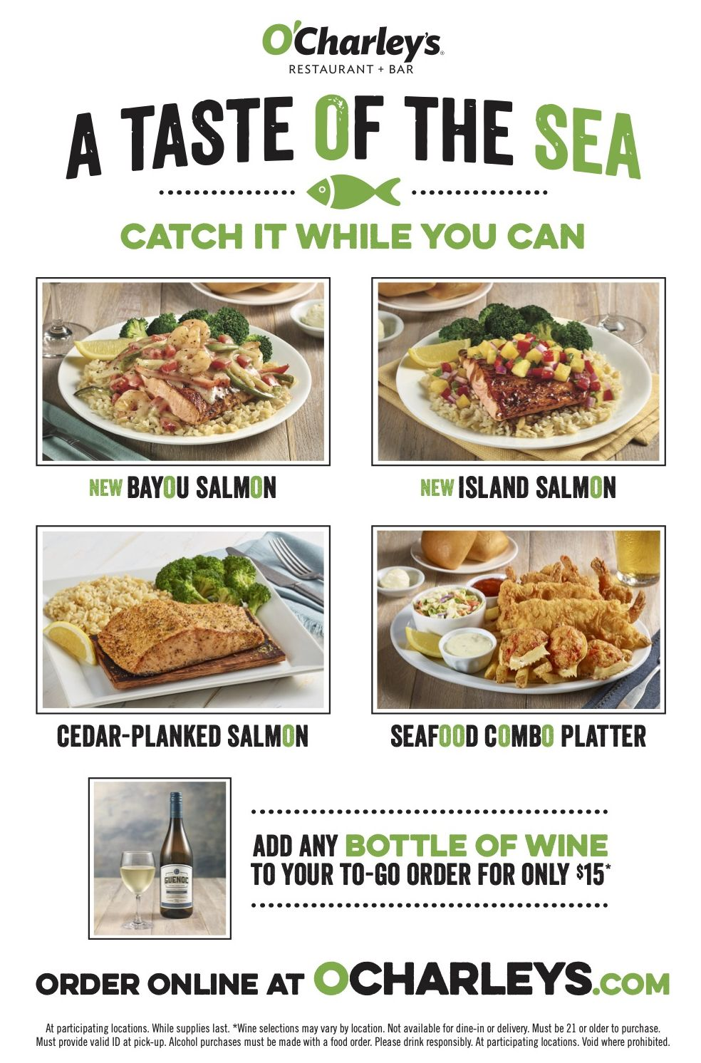 "O'Charley's Introduces New ""A Taste of the Sea"" Seasonal Specials"