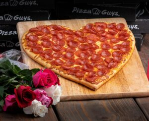 Pizza Guys Celebrates Valentine's Day With Heart-Shaped Pizzas