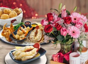 Celebrate Valentine's Day with flowers and lobster - My Red Lobster Rewards members will receive 15% off select purchases from 1-800-Flowers.com, plus a FREE Maine Lobster Tail reward.