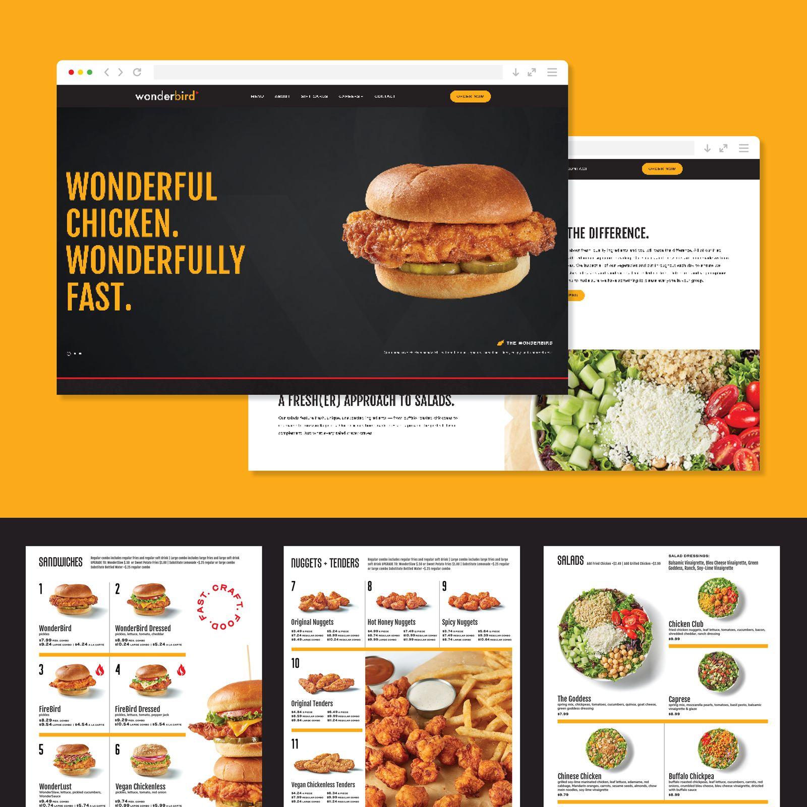 St. John Creates Brand Identity for New Fast Food Chicken Restaurant Wonderbird