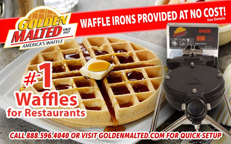 Waffle Irons Provided at No Cost - #1 Waffles for Restaurants - Only with Golden Malted