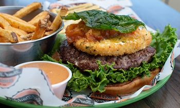Bad Daddy's Welcomes Back Its Fried Mozzarella Burger