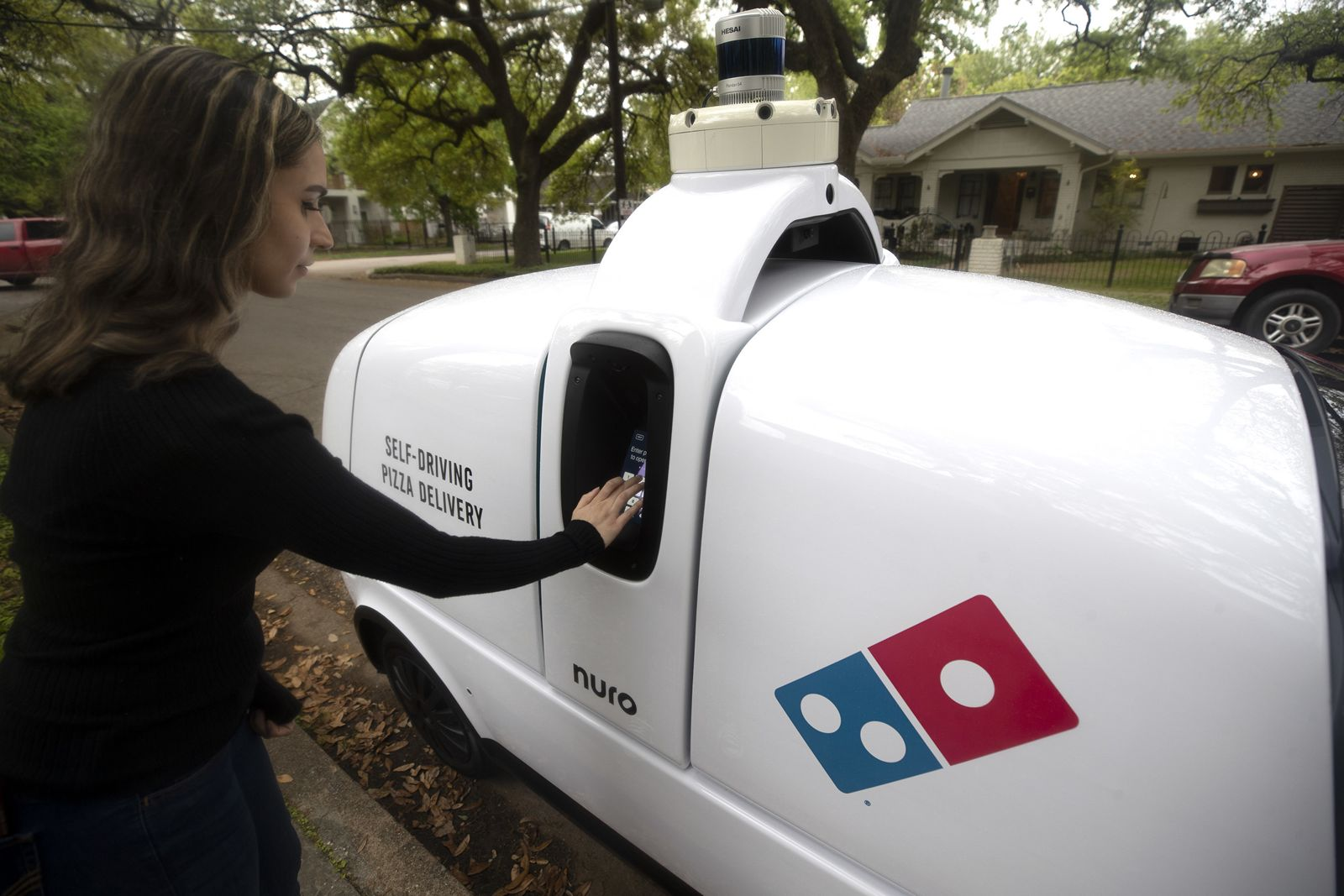 Domino's and Nuro Launch Autonomous Pizza Delivery with On-Road Robot