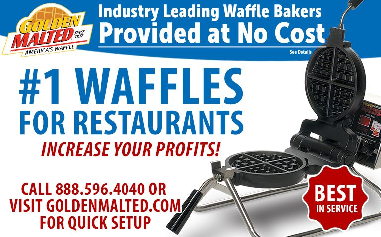 Serve America's #1 Waffles - Golden Malted Provides Waffle Irons at Setup