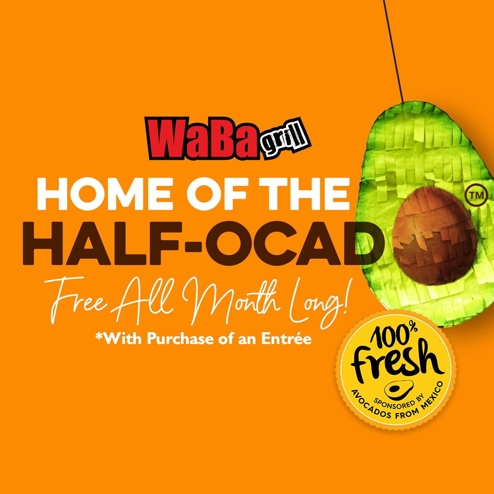 WaBa Grill Offering Free Avocado With Entrée Purchase in May in Partnership With the Avocados From Mexico Brand