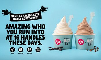 16 Handles and Oatly Collaborate to Launch 2 Exclusive Oatmilk Soft Serve Flavors this Summer