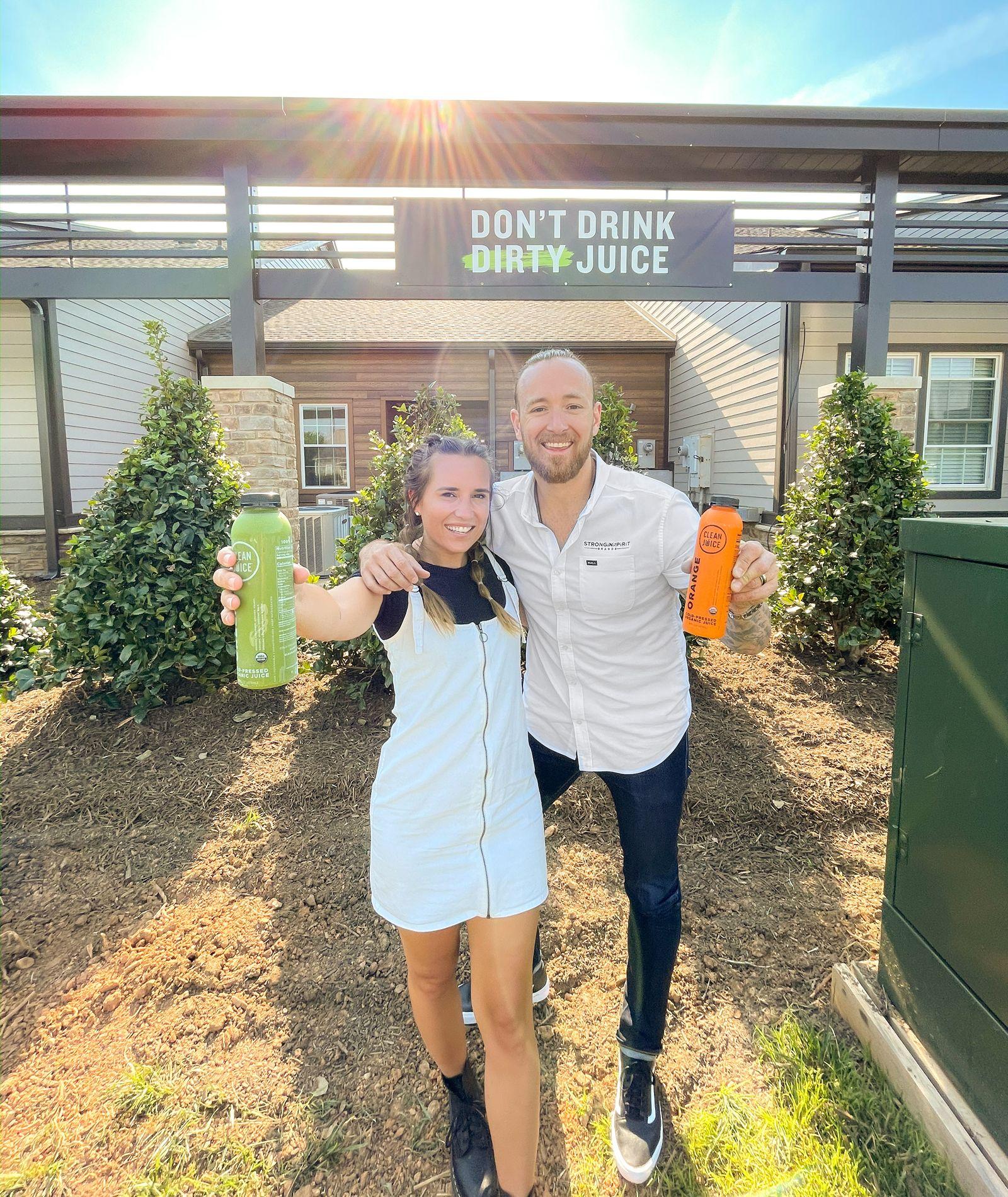 Clean Juice Founders Landon and Kat Eckles.