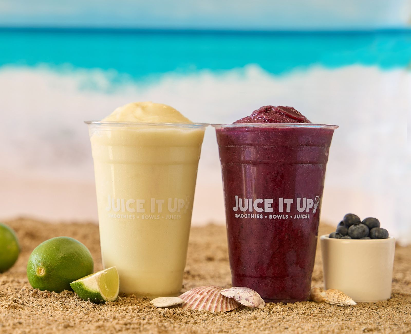 Juice It Up!'s NEW Limeade Squeeze and Blueberry Limeade Smoothies Now Available Through Sept. 21
