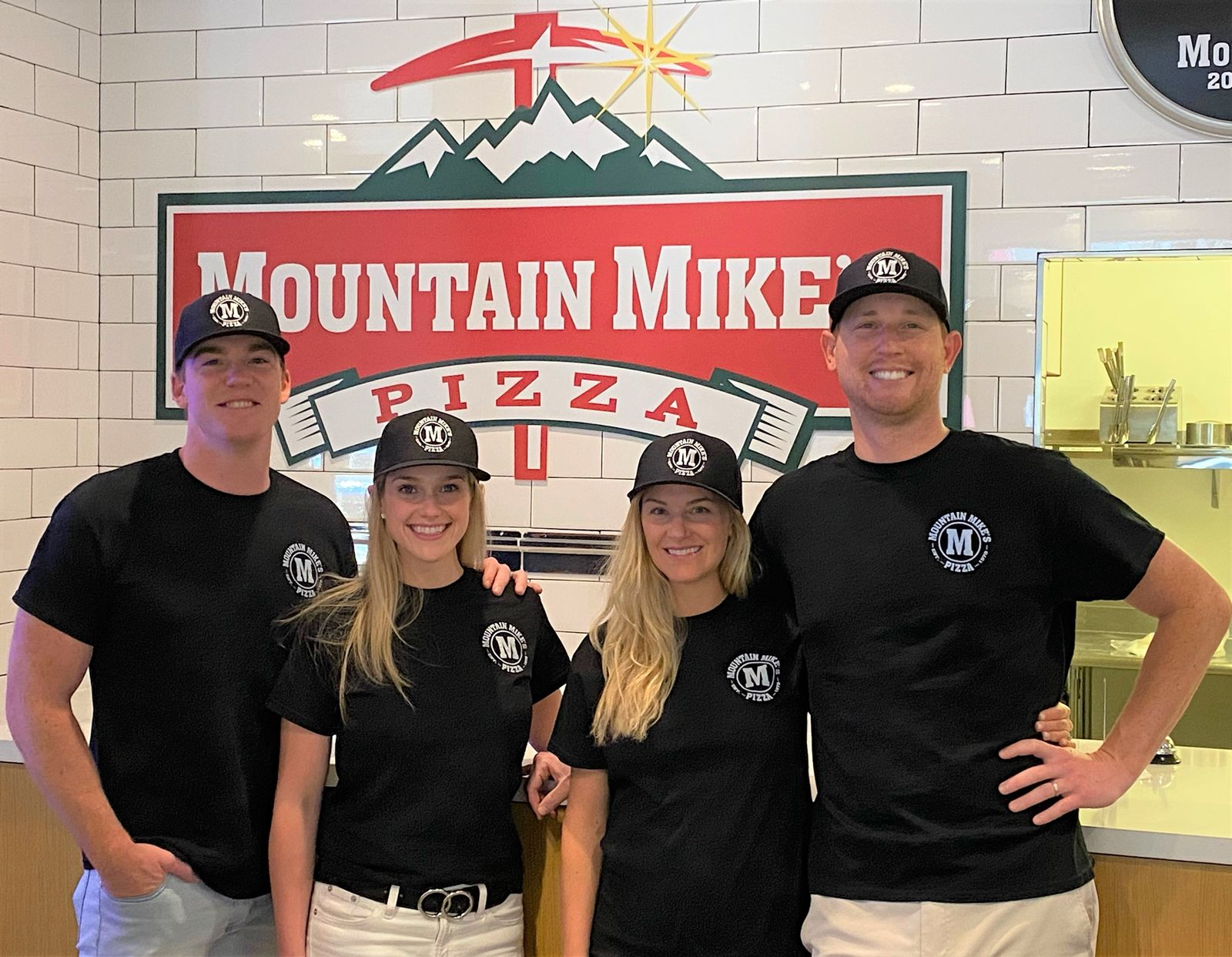 Mountain Mike's Pizza's New Oceanside Franchisees (From left to right: Sean and Casey Calcagnie & Annie and Garrett Beck)