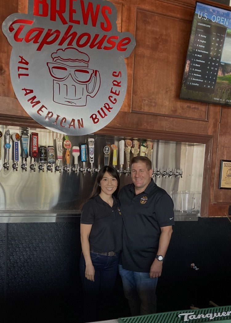 Mr Brews Taphouse franchise owners Tomomi and John Milleson.