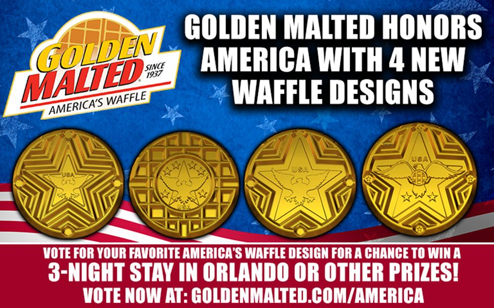 Golden Malted Honors America with 4 New Waffle Designs - Golden Malted is America's #1 Waffle