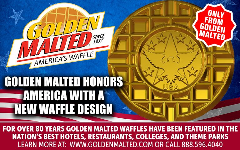 Golden Malted Honors America with a New Waffle Design - Golden Malted is America's #1 Waffle