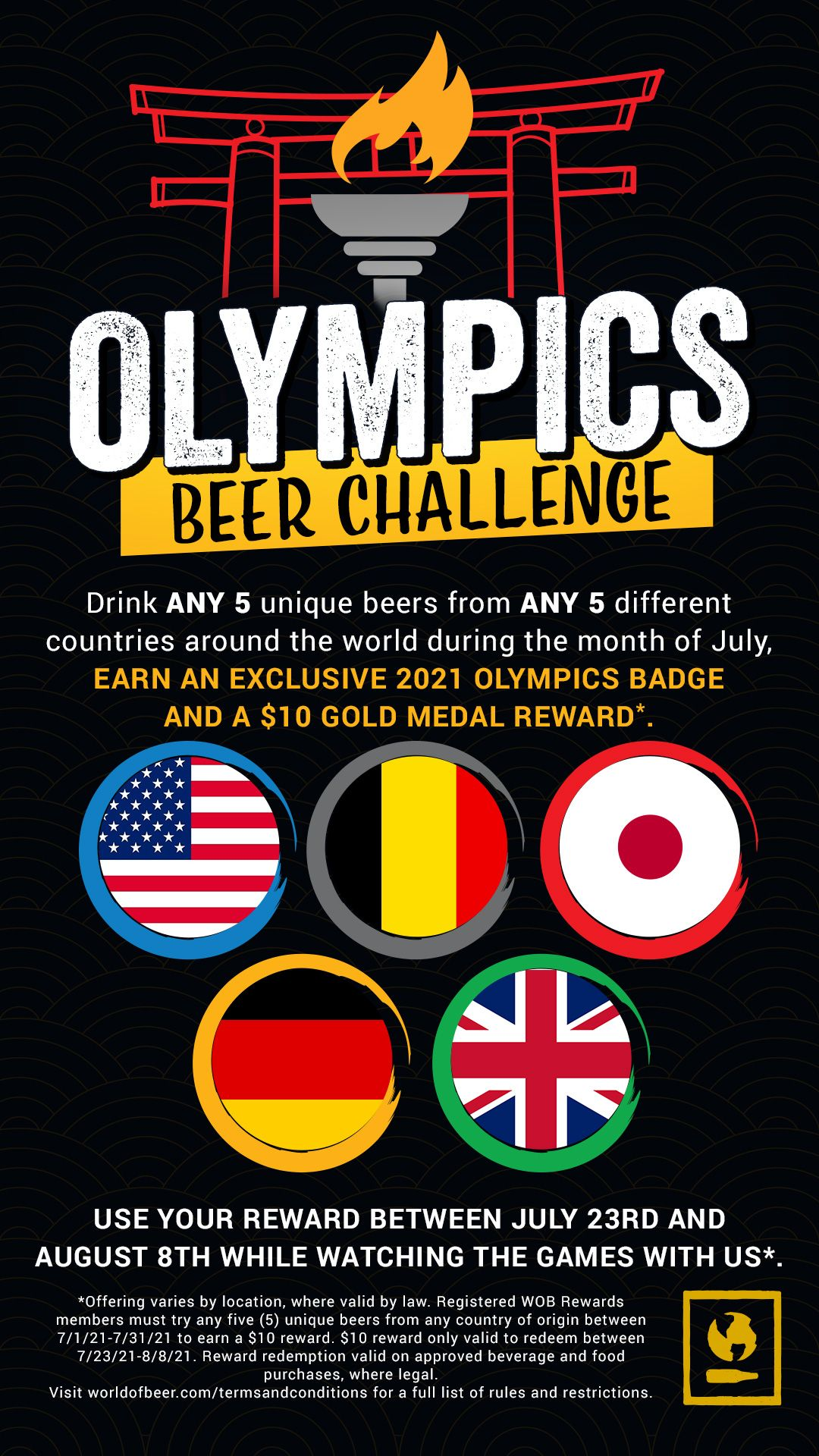 World of Beer Celebrates the Return of the Summer Olympic Games