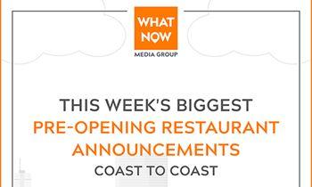 Shaq Rebuilding Atlanta Krispy Kreme Plus More from What Now Media Group's Weekly Pre-Opening Restaurant News Report