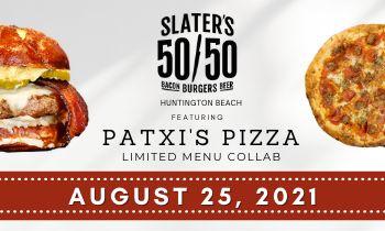 Slater's 50/50 Huntington Beach Announces a Limited-Menu Collaboration with Patxi's Pizza