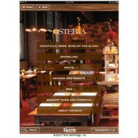 Marc Vetri's Osteria Restaurant Introduces Tiare Technology Wireless WineList System to Showcase Regional Italian Wine Offerings