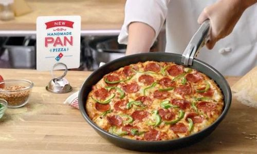 handmade pan pizza from dominos domino s to give away half a million free handmade pan 1544
