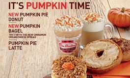 Tim Hortons Cafe & Bake Shop Celebrates Fall with the Return of Pumpkin Pie Goodness
