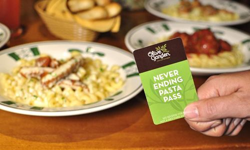 Olive Garden Introduces First-Ever 'Never Ending Pasta Pass'