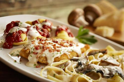 Olive Garden Introduces Two New Twists On Its Classic Tour Of Italy Entree