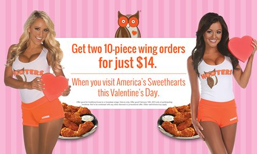 Love Is in the Air, and It Smells like Hooters Chicken Wings