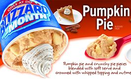 Pumpkin Pie Blizzard Treat Returns for Kick-Off of Fall Season