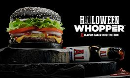 Burger King Restaurants Unveil the A.1. Halloween Whopper with A.1. Flavor Baked into the Black Bun