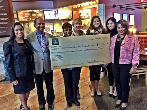 Panera Bread Presents $11,128 Check to Cleveland Clinic for Breast Cancer Research