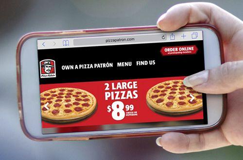 Pizza Patrón Updates Website with Responsive Design