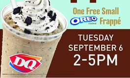 Dairy Queen Celebrates the Unofficial End of Summer With a Free Frappe Giveaway 2-5 p.m. on Tuesday, September 6