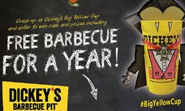 Dress Like a Big Yellow Cup on Halloween, Win Free Barbecue from Dickey's Barbecue Pit