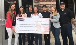 Burger 21 Raises Over $22,000 in October for National Breast Cancer Foundation