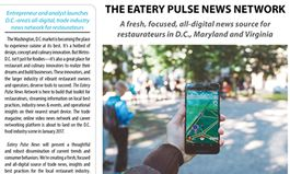 Eatery Pulse News Network Readies Millennial Anchor Competition, First Edition of Digital Magazine for Washington, D.C.-Area Restaurateurs