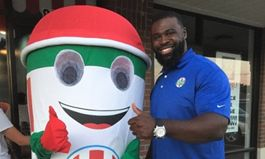 Former NFL Player Enjoys Life After Football with Rita's Italian Ice