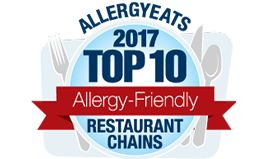 AllergyEats Releases 2017 List of Top 10 Most Allergy-Friendly Restaurant Chains