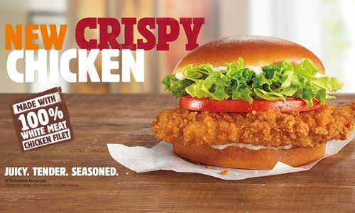 New Crispy Chicken Sandwich Made with Seasoned 100% White Meat Filet Debuts at Burger King