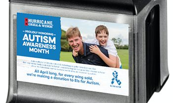 Hurricane Grill & Wings Sells Chicken Wings During the Month of April to Raise Money for Autism Awareness
