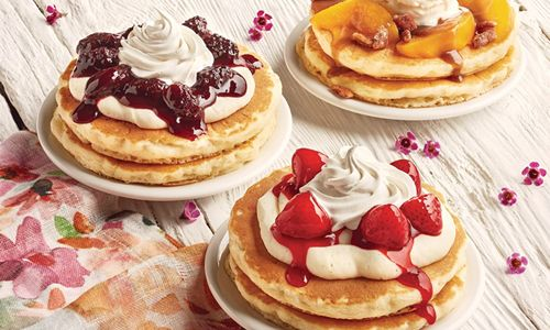 Spring Flavors Burst In Every Bite Of The New, Limited Time Juicy Fruit And Sweet Cream Topped Buttermilk Pancakes At IHOP Restaurants