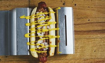 """Hot Dog King JJ's Red Hots Creates (What Else?) """"The National"""" for National Hot Dog Day"""