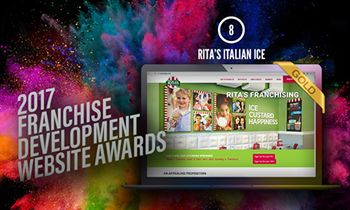 Team of 12 Franchise Experts Evaluates 200 Websites, Announces 8th Place Rita's Italian Ice