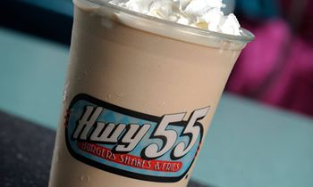 Hwy 55 Burgers, Shakes & Fries Offering FREE Chocolate Milkshakes on National Chocolate Milkshake Day