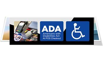 ADA.gov and one POS Terminal checkout Stand