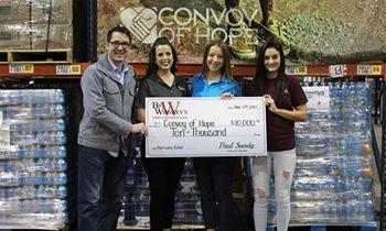 Missouri Restaurant Big Whiskey's, Raises $10,000 for International Organization Convoy of Hope