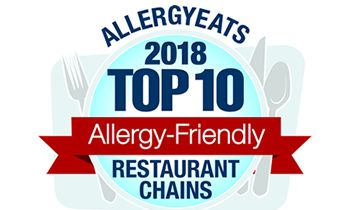AllergyEats Releases 2018 List of Top 10 Most Allergy-Friendly Restaurant Chains in America