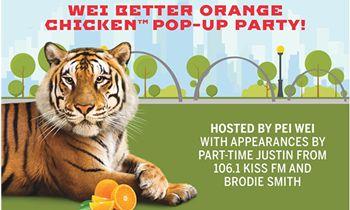Orange Out During Pei Wei's Wei Better Orange Chicken Pop-up Party At Klyde Warren Park