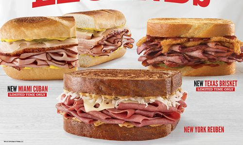 Sandwich Legends Have Arrived at Arby's – Miami Cuban, Texas Brisket and New York Reuben Honor Sandwich Royalty